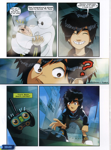 Big Hero 6 fond d'écran possibly with animé called Big Hero 6 Comic - The Winning Robot