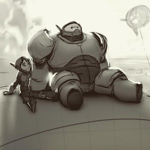 Big Hero 6 - Hiro and Baymax Concept Art