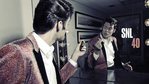 Bill Hader वॉलपेपर probably containing a business suit and an outerwear titled Bill Hader Hosts SNL: October 11, 2014