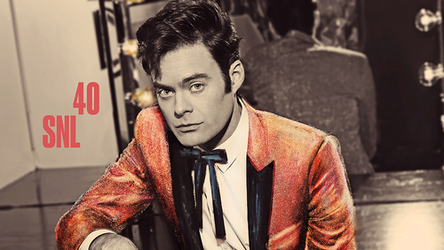 Bill Hader achtergrond possibly containing a business suit titled Bill Hader Hosts SNL: October 11, 2014