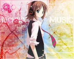 Brunette Anime Girl With Headphones