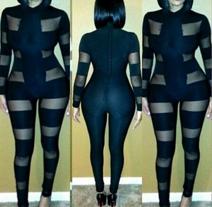 Caged body con suit