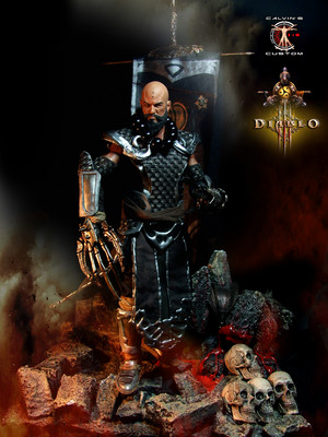 Calvin's Custom 1:6 Diablo 3 Monk figure, a commission project.