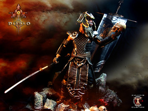 Calvin's Custom 1:6 Diablo 3 Monk in SunWuko casco figure, a commission project.