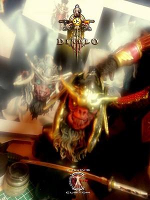 Calvin's Custom 1:6 Diablo 3 Monk in Sunwuko ہیلمیٹ figure, a commission project.