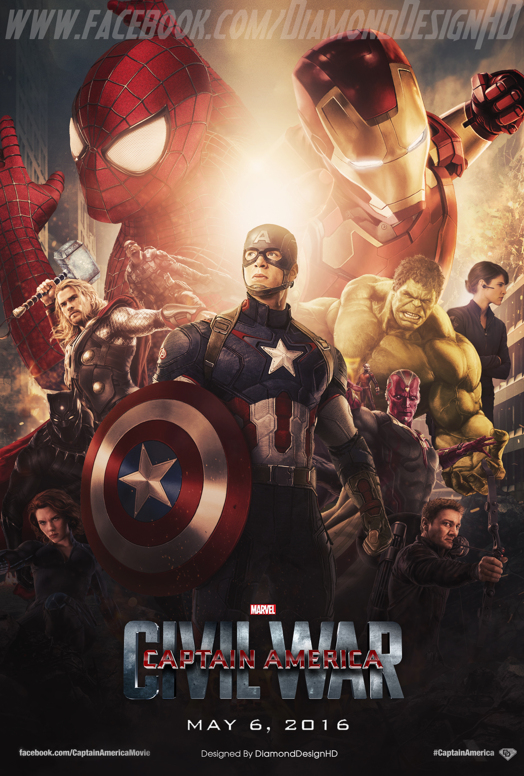 Captain America: Civil War (FAN MADE) Poster - Marvel: Civil