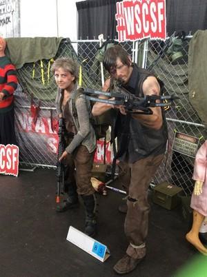 Carol and Daryl Cosplayers
