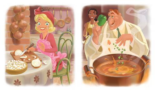The Princess and the Frog 바탕화면 entitled Charlotte, Big Daddy La Bouff and Tiana