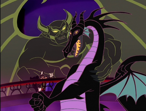 Disney Villains wallpaper containing anime called Chernabog and Maleficent