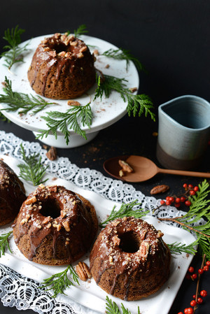 cokelat Bundt Cakes