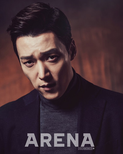 Choi Jin Hyuk achtergrond with a jersey titled Choi Jin Hyuk For Arena Homme Plus' March 2015 Issue