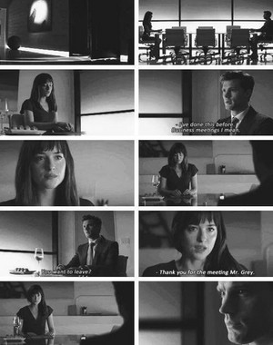 Christian and Ana's business meeting