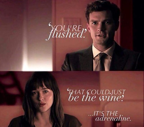 Fifty Shades-Trilogie Hintergrund containing a business suit and a suit called Christian and Anastasia
