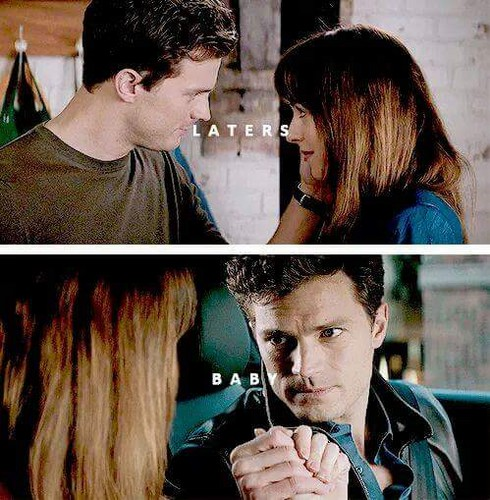 Fifty Shades-Trilogie Hintergrund probably containing a portrait called Christian and Anastasia