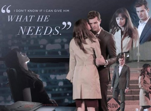 Fifty Shades-Trilogie Hintergrund possibly with a hip boot and a well dressed person entitled Christian and Anastasia