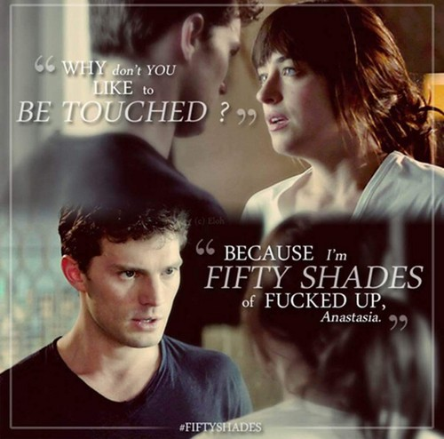 Fifty Shades Trilogy karatasi la kupamba ukuta with a portrait called Christian and Anastasia