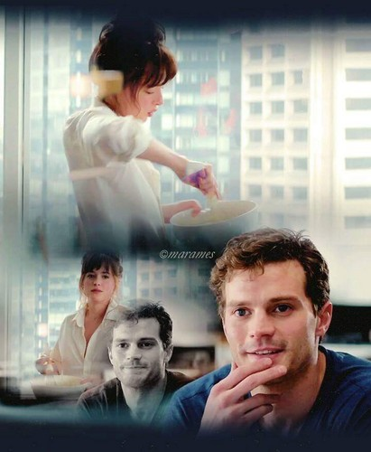 Fifty Shades-Trilogie Hintergrund with a portrait called Christian and Anastasia