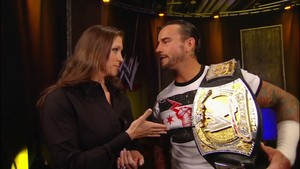 Cm Punk and Steph