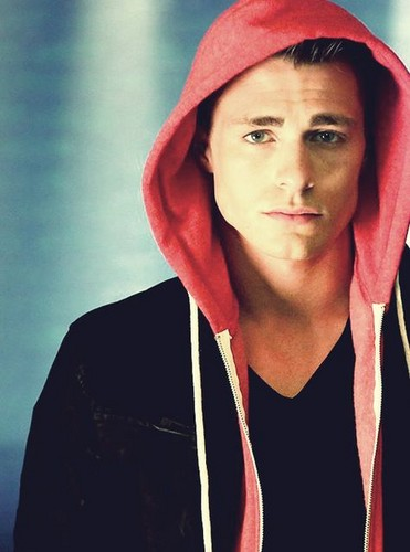 Colton Haynes wallpaper with a hood and a sweatshirt entitled Colton Haynes