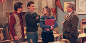 Cory, Shawn, Topanga and Mr. Feeny