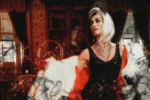 Once Upon A Time wallpaper containing a fur coat entitled Cruella de Vil