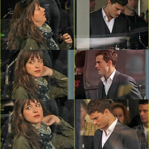 Dakota and Jamie filming