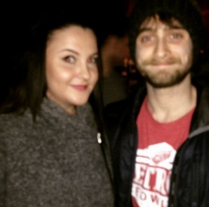 Daniel Radcliffe At 'bounce ping pong bar' (FB.com/DanielJacobRadcliffefanclub)