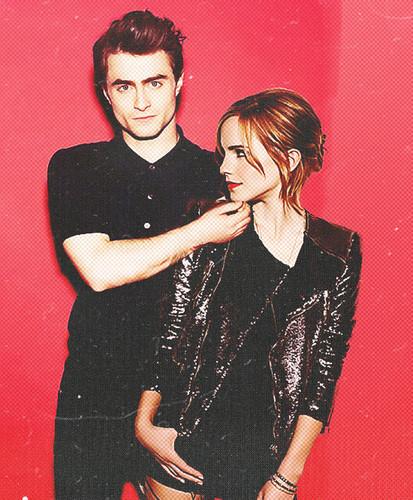 Daniel Radcliff fond d'écran containing a portrait entitled Daniel Radcliffe & Emma Watson Amazing fan Art (Fb.com/DanieljacobRadcliffeFanClub)