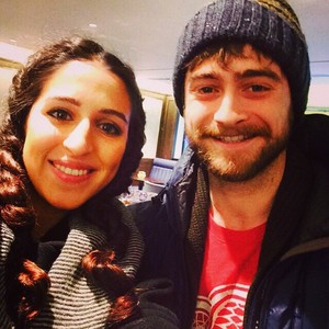 Daniel Radcliffe with a fan yarazeitoun In Mayfair, London,Uk! (Fb.com/DanielJacobRadcliffeFanClub)