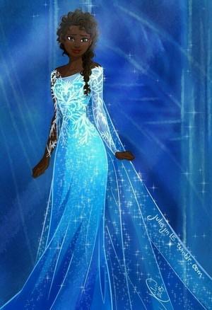disney fã Art - Darkskinned Elsa