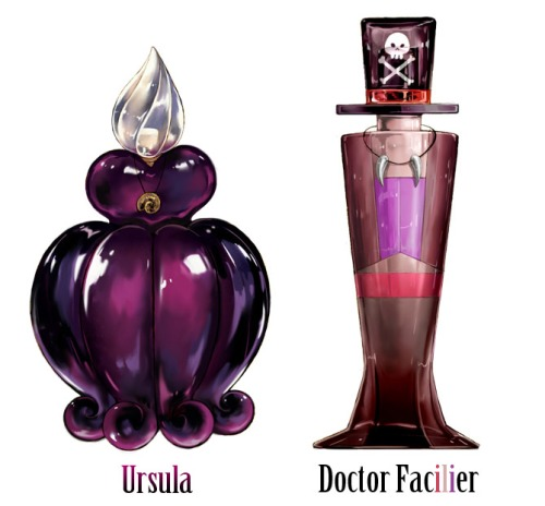 Childhood Animated Movie Villains karatasi la kupamba ukuta titled Disney Villains Perfume