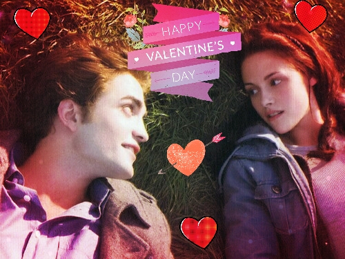 la saga Twilight fond d'écran possibly with a bouquet titled Edward and Bella Happy Valentine's Day(Twilight style)