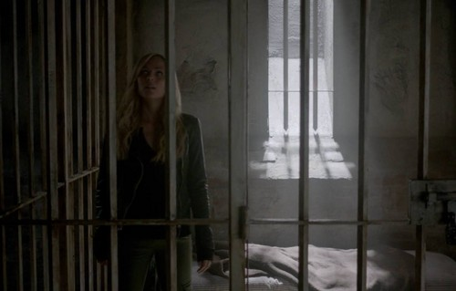 Bitten TV Series wallpaper with a holding cell, a cell, and a penal institution titled Elena Michaels