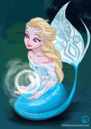 Elsa as Mermaid
