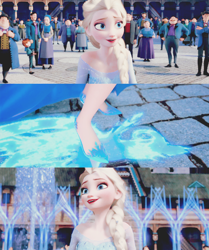 elsa e ana wallpaper possibly containing a water entitled Elsa