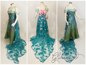Elsa's Spring Dress Cosplay from Frozen Fever