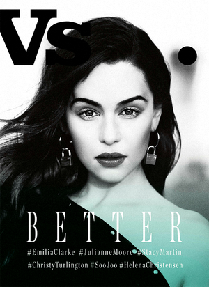 Emilia on magazine cover
