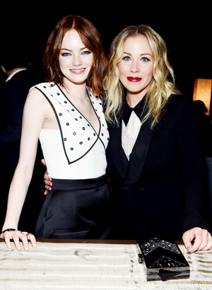 Emma Stone at the 2015 Film Independent Spirit Awards at Santa Monica playa on February 21st, 2015 i