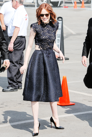 Emma Stone at the 2015 Film Independent Spirit Awards at Santa Monica Beach on February 21st, 2015 i