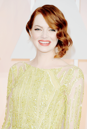Emma Stone attends the 87th Annual Academy Awards at Hollywood