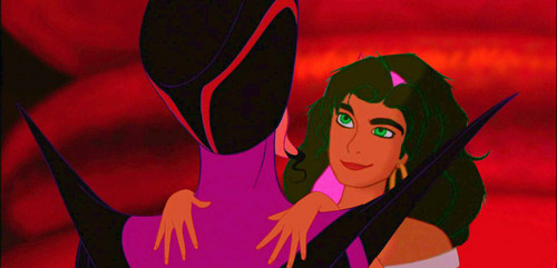 disney crossover پیپر وال entitled Esmeralda/Jafar