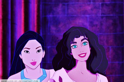 Disney crossover karatasi la kupamba ukuta entitled Esmeralda/Pocahontas