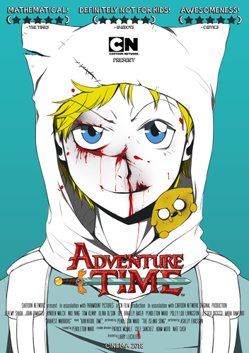 Adventure Time fond d'écran probably containing animé called Fake Adventure time movie poster