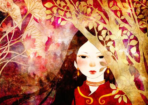 zanhar1 দেওয়ালপত্র called Folklore Illustration
