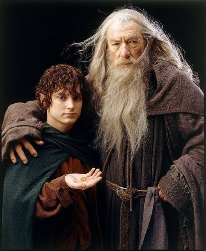 Lord Of The Rings Frodo And White Gandalf