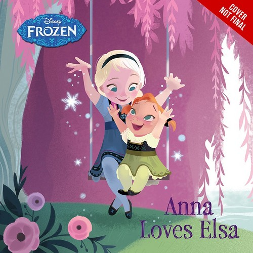 Frozen wallpaper possibly with a sign and anime titled Frozen - Anna Loves Elsa Book