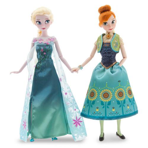 elsa e ana wallpaper entitled Frozen - Uma Aventura Congelante Fever Anna and Elsa bonecas Summer Solstice Gift Set 12''