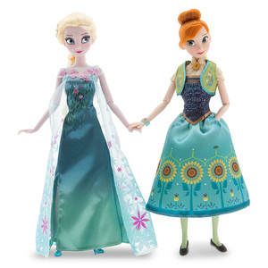 Frozen Fever Anna and Elsa Dolls Summer Solstice Gift Set 12''