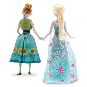 Frozen Fever Anna and Elsa Puppen Summer Solstice Gift Set 12''