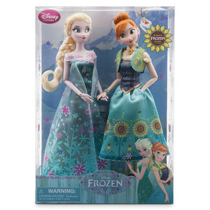Frozen Fever Anna and Elsa anak patung Summer Solstice Gift Set 12''